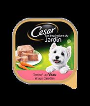 CESAR® au veau et carottes Barquettes en terrine Portion individuelle 300g