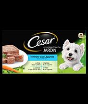 CESAR® aux légumes Barquettes en terrine 4 variétés 4x300g