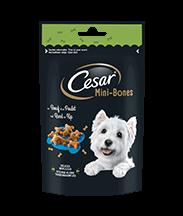 Les Tendres Délices CESAR® Mini-Bones au Bœuf & au Poulet 75g