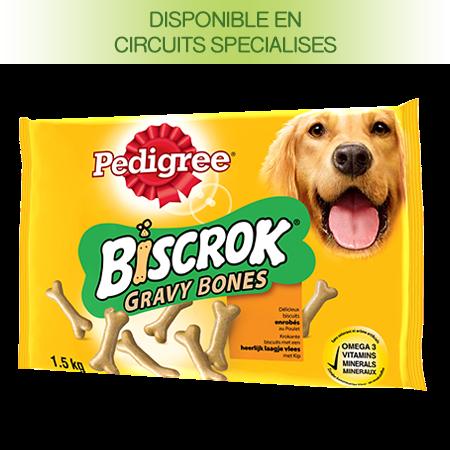 Biscuits Biscrok™ Gravy bones au poulet pour chien