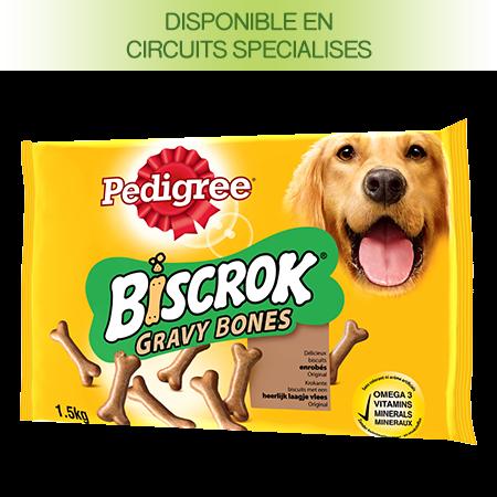 Biscuits Biscrok™ Gravy bones au boeuf pour chien
