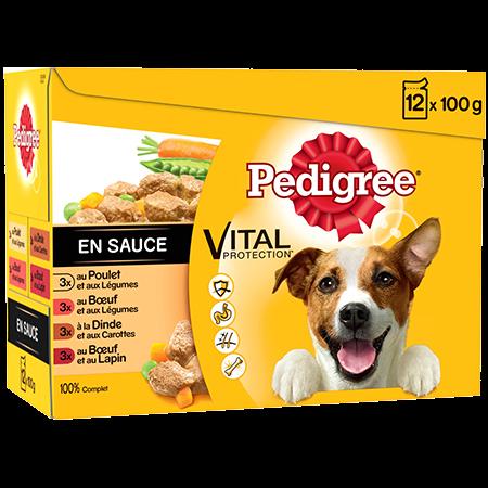 Sachet fraîcheur en sauce 12x100g pour chien adulte