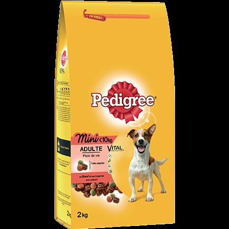 Croquettes Mini au bœuf 2kg chien adulte <10kg
