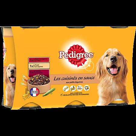 Boîtes Les cuisinés en sauce™ 3x1,2kg pour chien adulte