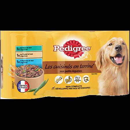 Boîtes Les cuisinés en terrine™ 3x410g pour chien adulte