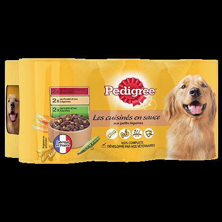 Boîtes Les cuisinés en sauce™ 6x400g pour chien adulte