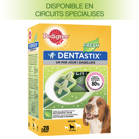 PEDIGREE® DENTASTIX™ FRESH multipack pour Moyens Chiens 28 sticks