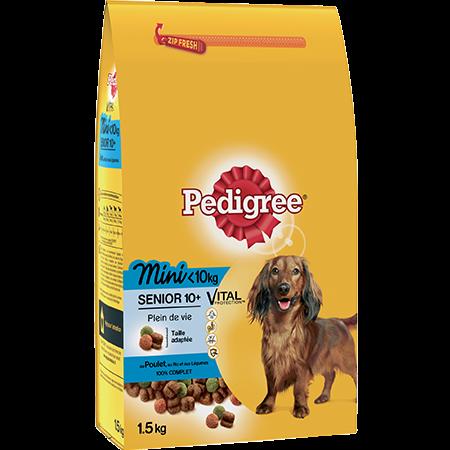 Croquettes Mini 1,5kg pour chien senior <10kg