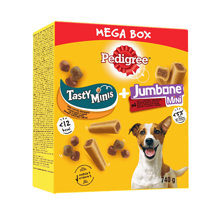 Mega Box Mix Récompenses pour chien Jumbone + Sa récompense