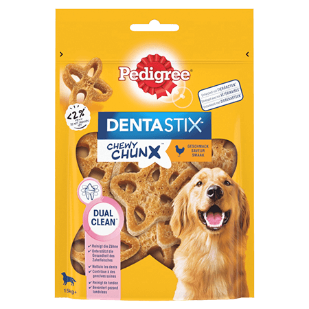 PEDIGREE® Dentastix™ Chewy Chunx +15kg saveur poulet