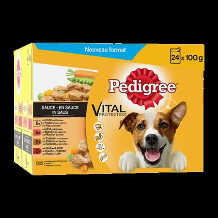 Sachet fraîcheur en sauce 24x100g pour chien adulte