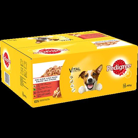 Sachet fraîcheur Gelée gourmande™ 72x100g chien adulte