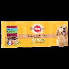 Boîtes Les cuisinés en sauce™ 4x400g pour chien adulte