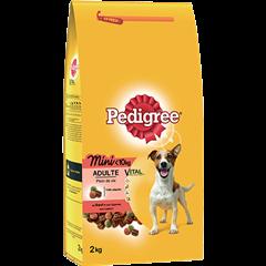 PEDIGREE® Croquettes spéciales Mini chien <10kg au bœuf et aux légumes pour chien adulte 2kg
