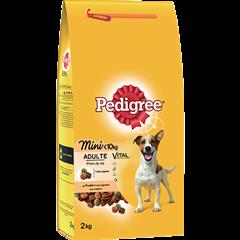 PEDIGREE® Croquettes spéciales Mini chien <10kg au poulet et aux légumes pour chien adulte 2kg