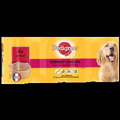 Boîtes Terrines™ saveurs 4x400g pour chien adulte