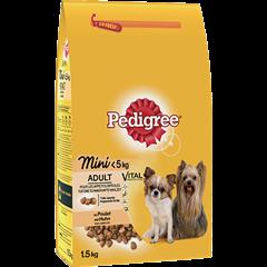 PEDIGREE® Croquettes spéciales mini chien <5kg au poulet pour chien adulte 1,5kg