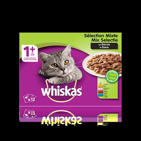 WHISKAS 1+ Sélection Mixte en Sauce