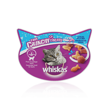 WHISKAS Trio Crunchy Treats saveur de la mer