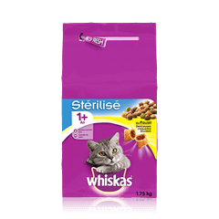 WHISKAS<sup>&reg;</sup>Chat Stérilisé 1 an+ Poulet 1,75KG