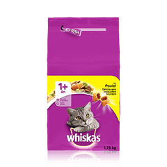 WHISKAS® Croquettes Poulet Chat adulte 1,75kg
