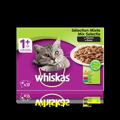 WHISKAS<sup>®</sup> 1+ Sélection Mixte en Sauce
