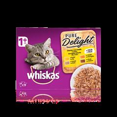WHISKAS® Pure Delight Sélection à la Volaille x12 en Gelée pour chat adulte