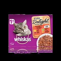 WHISKAS<sup>®</sup> Pure Delight Sélection Classique x12 en Gelée pour chat adulte