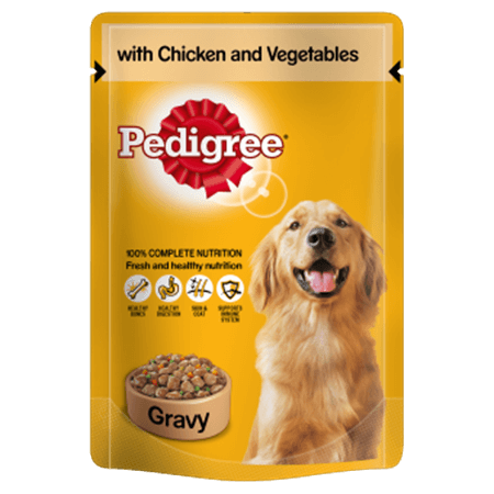PEDIGREE® Pouch with Chicken and Veg in Gravy