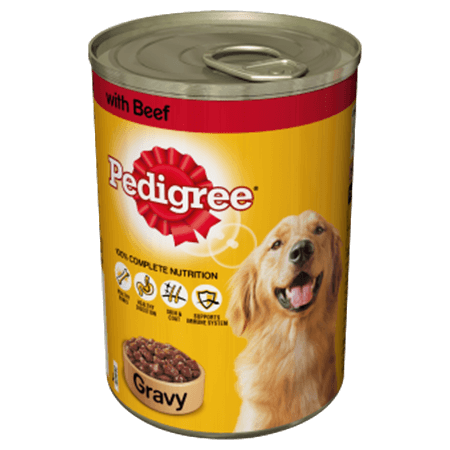 PEDIGREE® Tin With Beef in Gravy
