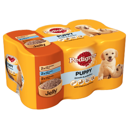 PEDIGREE® Puppy Tins Mixed Selection in Jelly