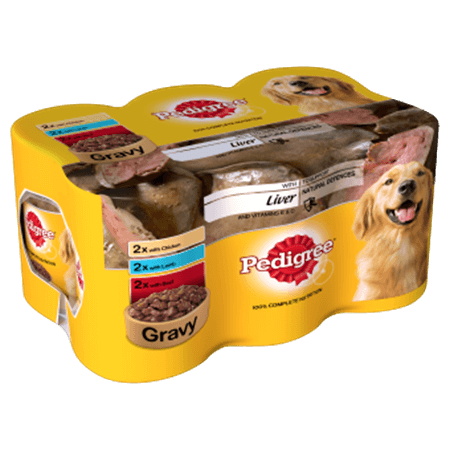 PEDIGREE® Tins Mixed Selection With Meat and Liver in Gravy