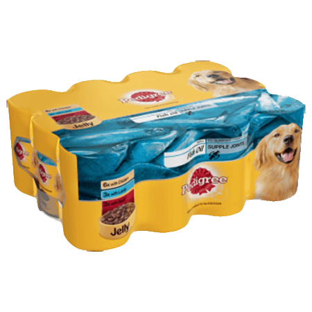 PEDIGREE® Tins Mixed Selection With Fish Oil in Jelly