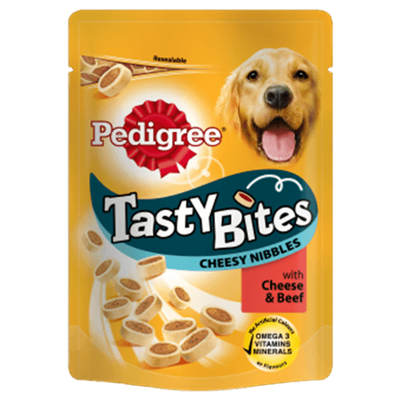PEDIGREE® Tasty Bites Cheesy Nibbles with Cheese and Beef
