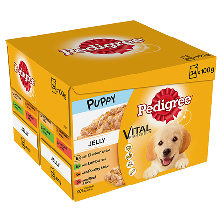 PEDIGREE® Puppy Pouches Meat Selection in Jelly