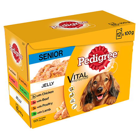 PEDIGREE® Senior Dog Pouches Meat Selection in Jelly