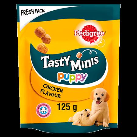 Tasty Minis Puppy Chicken 125g
