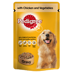 Pedigree Pouch with Chicken and Veg in Gravy