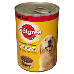 PEDIGREE Tin With Beef in Gravy