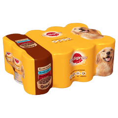 PEDIGREE Tins Mixed Meat Selection in Gravy