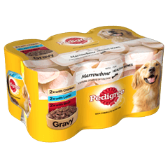 PEDIGREE Tins Mixed Selection With Marrowbone in Gravy