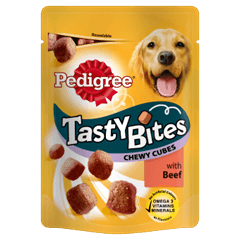 Pedigree Tasty Bites Chewy Cubes with Beef
