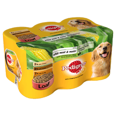 Pedigree Tins White Meat and Maize in Loaf