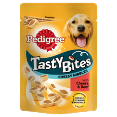 PEDIGREE Tasty Bites Cheesy Nibbles with Cheese and Beef