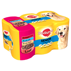 PEDIGREE® Senior Dog Tins Meat Selection in Loaf