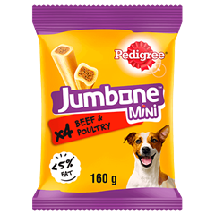 Pedigree Jumbone™ Beef and Poultry Mini 160g
