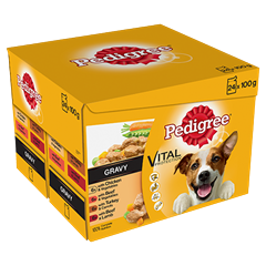 PEDIGREE® Pouches Real Meals in Gravy