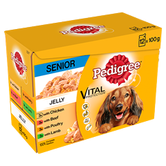 PEDIGREE Senior Dog Pouches Meat Selection in Jelly