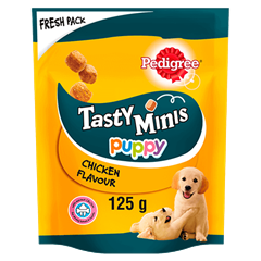 Tasty Minis Puppy Chicken 125g
