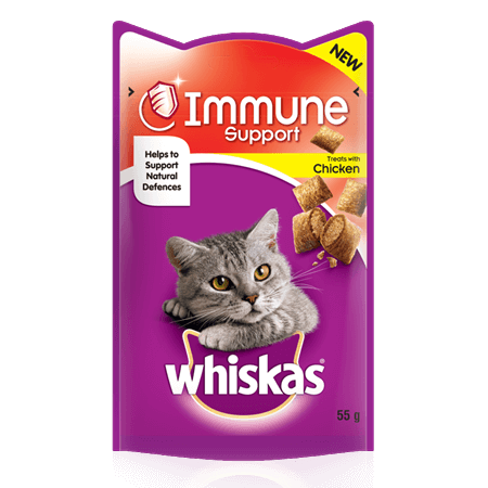 WHISKAS Immune Support Cat Treats with Chicken 55g